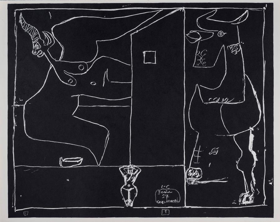 le corbusier der k nstler blatt nr 1 des portfolios petite confidences lithographie 1960. Black Bedroom Furniture Sets. Home Design Ideas
